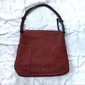 Sundance pebbled leather large shoulder hobo bag